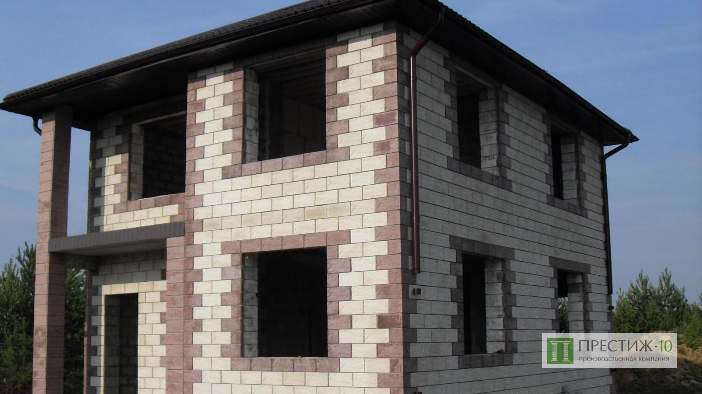 Дома из цветного шлакоблока фото